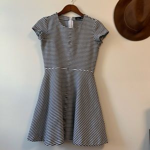 Kate Spade Saturday Striped Fit + Flare Dress